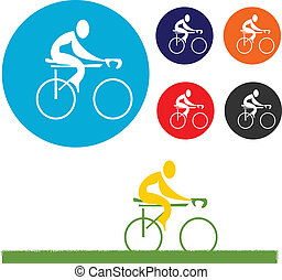 cycliste, icône