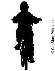 cycliste, jeune homme