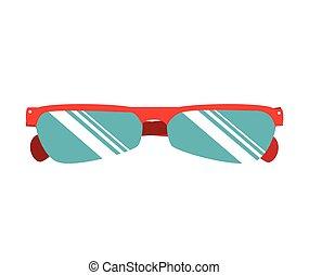 cycliste, lunettes soleil, usure, icône, vecteur, illustration