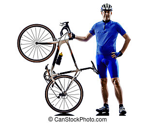 cycliste, silhouette