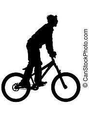cycliste, sport, homme
