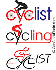 cycliste, vélo, cyclisme