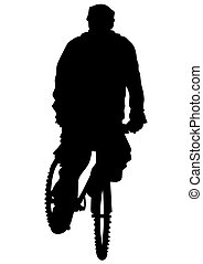 cycliste, voyager, homme