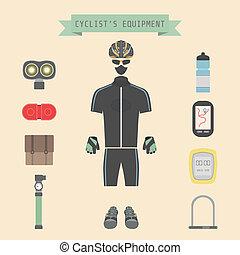cyclist's gear
