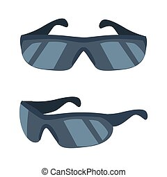 Cyclists Glasses Collection Vector Illustration