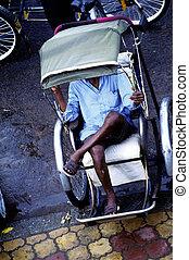 Cyclo drivers- Phnom Penh, Cambodia