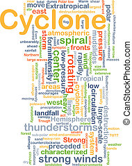 Cyclone background concept