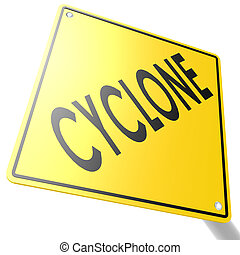 cyclone, panneaux signalisations