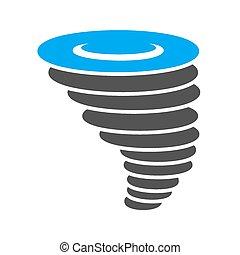 Cyclone, tornado, hurricane, typhoon icon vector image. Can...