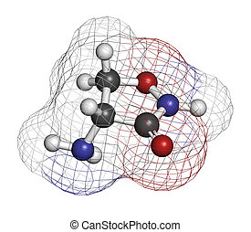 Cycloserine (D-cycloserine) tuberculosis drug, chemical...