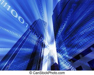 cyfrowy, abstrakcyjny, od, los anieli