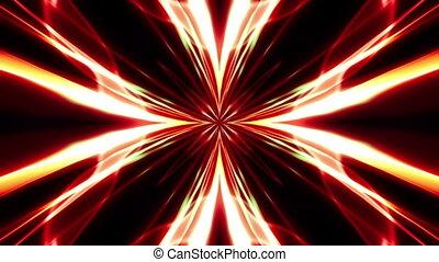 cyfrowy, abstrakcyjny, pomarańczowy kwiat, czerwony