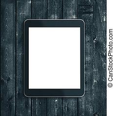 cyfrowy, ekran, czysty, tabliczka