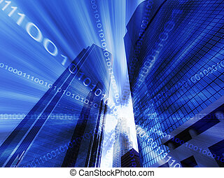 cyfrowy, los anieli, abstrakcyjny
