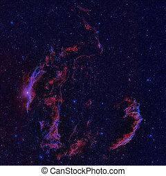 cygnus, supernova, nébuleuse, voile, reste, constellation