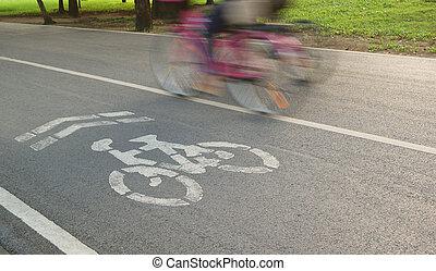 cykel, lanes