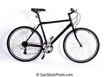 cykel, på hvide