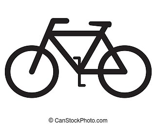 cykel, silhuett