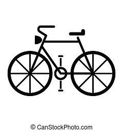cykel, symbol, vektor