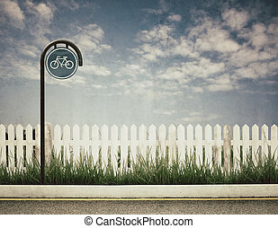 cykel, underteckna