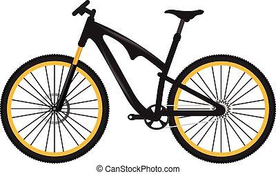 cykel, vektor, illustration
