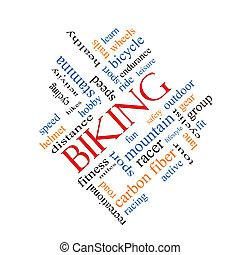 cykla, begrepp, ord, moln, Meta