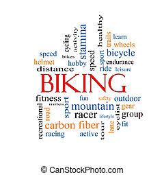 cykla, ord, moln, begrepp