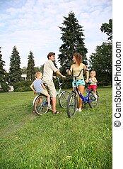 cyklar, föräldrar, barn