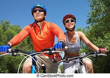 cykling, par