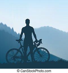 cyklist, bjerge