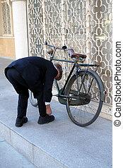 cyklist, retro