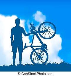 cyklista, silueta