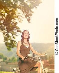 cyklister, smukke, smiler