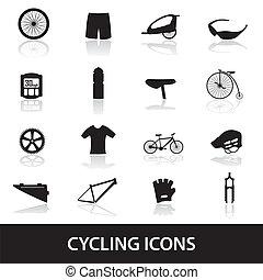 cyklistika, ikona, eps10