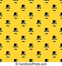 Cylinder and moustaches pattern vector