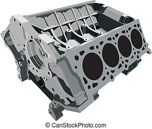 The main part of the engine - the cylinder block