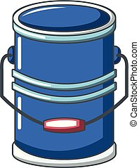 Cylinder bucket icon, cartoon style