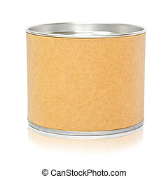Cylinder container isolated on white background