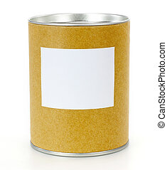 Cylinder Container with blank label