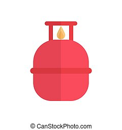 cylinder  flat color icon