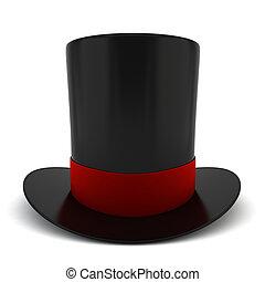 Cylinder hat. 3d illustration on white background