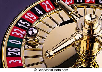 cylinder, i, en, roulet, chance boldspil