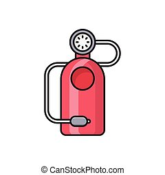 cylinder line flat icon