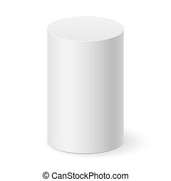 Cylinder - White cylinder isolated on white background for...