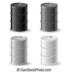 cylindern, olja, sätta, ikon