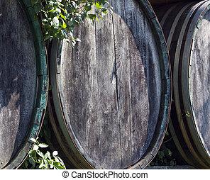cylindern, ved, vin