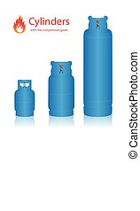 Cylinders compressed gases