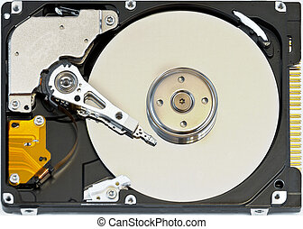 hard disk - cylinders of the hard disk, spindle, power...