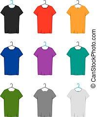 cylindre court, t-shirts, gabarit