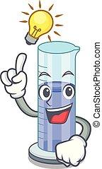 cylindre, idée, procès, avoir, gradué, dessin animé